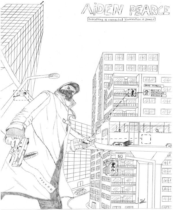 Les dessins du Geek : Aiden Pearce